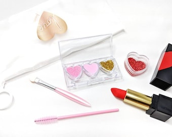 Valentine's Day Pretend Play Makeup Set - No mess! - Fake makeup -pretend play - kid makeup - pretend - cosmetics - play makeup