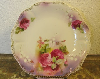 Romantic Lustre Plate Made In Germany