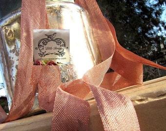 Rayon Seam Binding Ribbon Redwood Brown