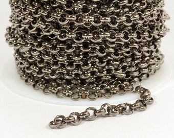 5ft 5.7mm Rolo Chain - Gunmetal - 5.7mm Links - CH81