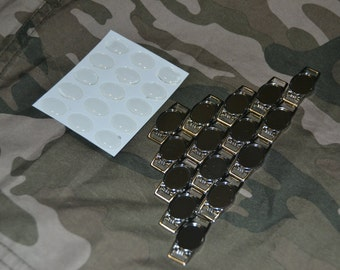 30 Blank Oval Charms for paracord bracelets or shoelace charms with epoxy stickers. 12 X 16 mm
