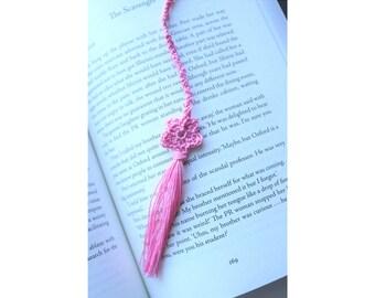 Flower Bookmark - Crochet Flower - Bookmark - Gift For Book Lover - Teacher - Book Club - Librarian - Valentine's Day Gift for Book Lover