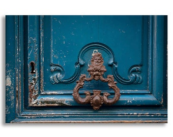 Paris Photograph on Canvas - Echos, Ornate Door Knocker,  Gallery Wrapped Canvas, Architecture Photograph, Urban Decor, Large Wall Art