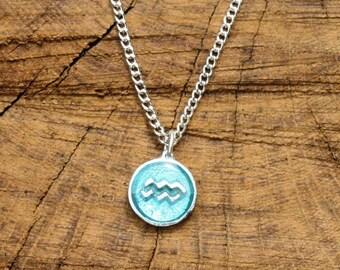 Aquarius Necklace & Pendant Ladies Horoscope Gift