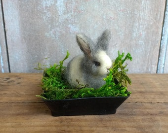 Adorable Miniature Bunny Rabbit Spring Easter Lisa Haldeman Lovinclaydolls Basket Rabbits Farm Animals Gift Birthday Pet Lover