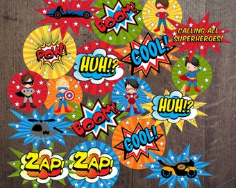 INSTAND DOWNLOAD Boy Super - Hero Party Table Decorations/Centerpiece/table center decorations