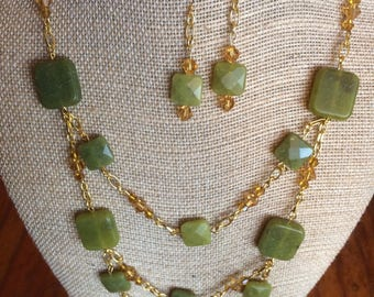 Jade and Gold Set