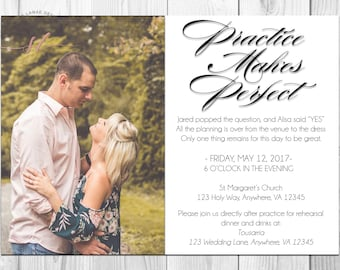 Practice Makes Perfect Rehearsal Dinner Invitation// Wedding Rehearsal// Rehearsal Dinner// Rehearsal Dinner Invitation// Wedding
