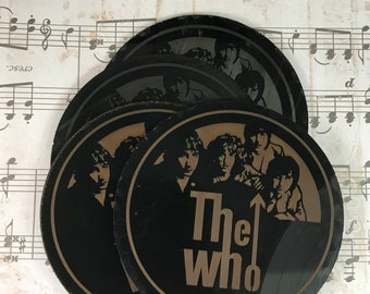 Vinyl Record Coaster the Who Upcycled Set of 4 Artist Representation