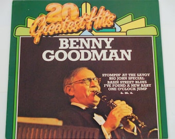 "Benny Goodman 20 Greatest Hits - ""Stompin' at the Savoy"" - Let's Dance"" - Jazz - Swing - Pentagon German Release 1977 - Vinyl LP Record"