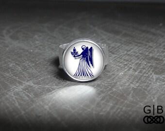 Virgo Ring Zodiac Virgo Jewelry Ring - Zodiac Virgo Adjustable Ring - Virgo Zodiac Statement Ring Virgo Jewelry - Zodiac Virgo Ring Jewelry
