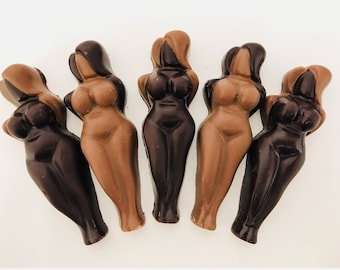 Four Curvy Naked Ladies Belgian Chocolate 85g (EXPLICIT)