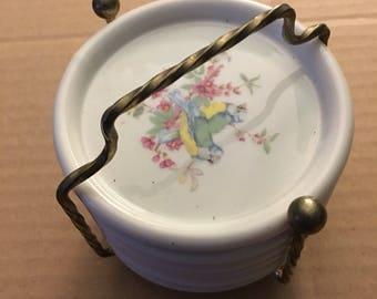 Vintage set of ceramic coasters...free shipping !!