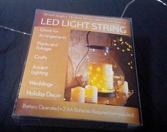 LED Mini Light String, Fairy Lights, Warm White Light String, Wine Bottle Lights, Accent Lighting, Battery Operated Light Set, Rice Lights