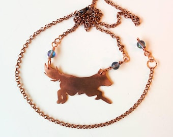 Fox pendant/friend from the forest/quartz crystal necklace/spiritual animal