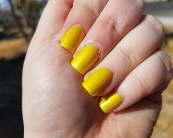 Icy Lemonade - Yellow Polish - 7 Free  - Indie Polish - Nail Polish - Nail Lacquer