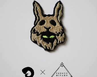 Rabbits/Patch/edition 200/Artist Collaboration with Miyako Tengyu, embroidery, seal,