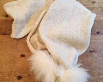 Cream bobble scarf