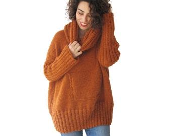 Mohair Sweater, Accordion Neck