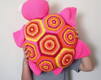 Large Crochet Sea Turtle Floor Pillow