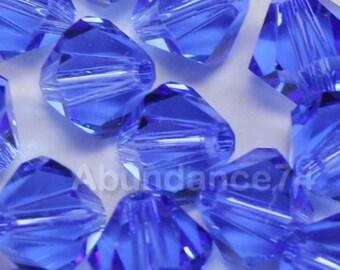 50 pcs Swarovski Elements - Swarovski Crystal Beads 5301 / 5328 5mm Beads - Sapphire