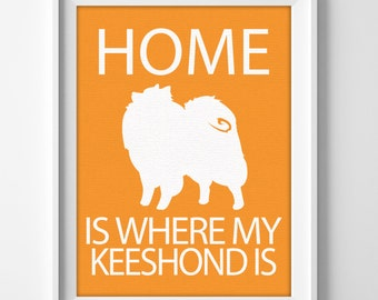 Keeshond Dog Lover Personalized Art Prints