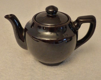 Made In Occupied Japan - Small Brown Teapot - Original Top Included - Excellent Condition!!