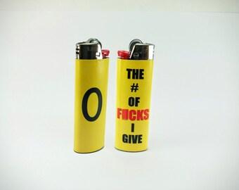 Zero - The Number Of F*CKS I Give Custom Lighter