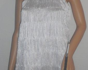 New white small / medium 1920's flapper costume dress costumes
