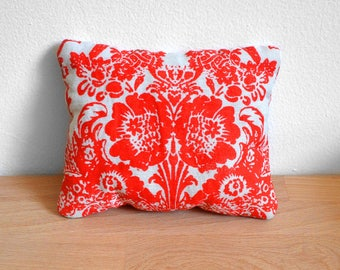 """mARTotes Lavender Pillow Pouch, 6""""x4.5"""" Full of Lavender, Floral Red Color"""
