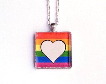Rainbow Gay Pride Necklace | Trans Pride Necklace | LGBTQ |