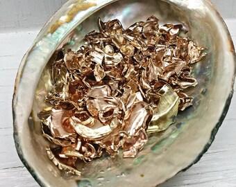 Orgonite Copper Flakes-Crushed Copper & Brass-Copper Petals Shavings-Orgone Metal-Copper for Orgonite Metal Casting-DIY Orgonite Pyramid