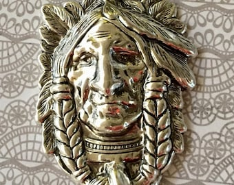Indian Head Silver Pewter Pendant