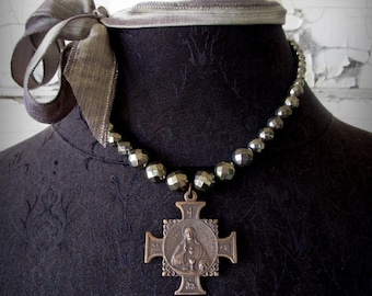 Sacred Heart and Blessed Sacrament Necklace