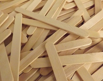 """Popsicle Sticks 1000 ct Bulk Pack of Standard 4 1/2"""" x 3/8"""" - Kid's Craft Projects   Wholesale Classroom / Camp Supplies"""