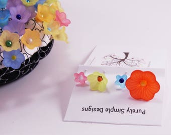 Sewing and Quilting Decorative Flower Pins, Flower Pincushion Pins, Flower Pins for Sewing or Scrapbook, Embellishments Pins