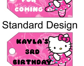 Printable Hello Kitty Favor Tags, Hello Kitty Inspired Tags, Hello Kitty Birthday, Hello Kitty Favors, Kitty birthday