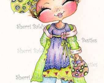 INSTANT DOWNLOAD Digital Digi Stamps Big Eye Big Head Dolls Bestie New Bestie Trudy My Besties By Sherri Baldy