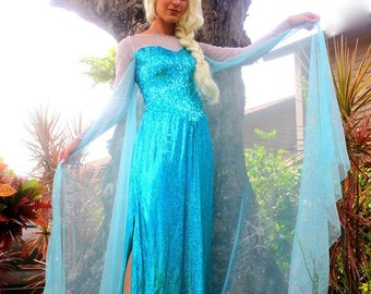 Elsa Frozen Costume  sc 1 st  Etsy : elsa frozen costume girls  - Germanpascual.Com