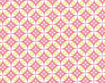 Moxi Floral Geometric Cheeky Pink Bubblegum > by Studio M for Moda Fabrics < Half Yard off the Bolt
