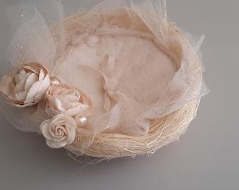 Ring bearer nest unbleached sisal