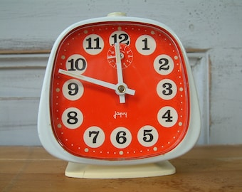 French vintage JAPY  mechanical alarm clock. 1970s
