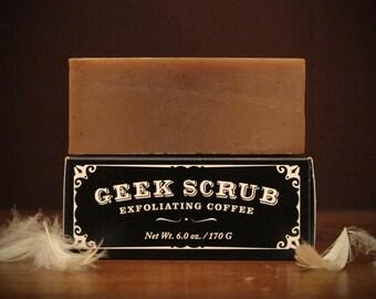 The Original Geek Scrub Soap Bar - Exfoliating Coffee