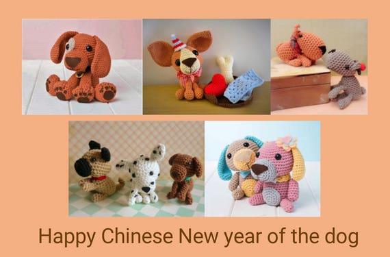Sammlung von Hunde-Amigurumi Häkelanleitung Muster fünf