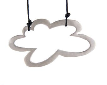Cloud necklace, sterling silver cloud pendant, weather necklace, christmas gift, minimalist pendant, everyday pendant, cloud jewelry, xmas