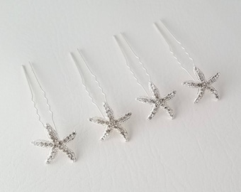 Bridal Starfish Hair Pin Wedding Starfish Hair Jewelry Starfish Hair Accessory Hairpins