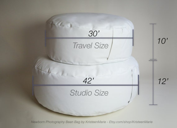 Travel size posing beanbag for newborn photography newborn
