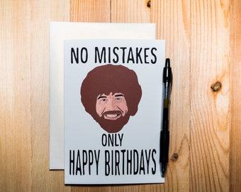 Bob Ross Birthday Card