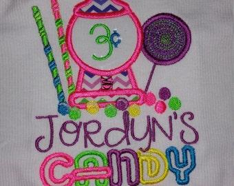 Candy Land Themed Birthday Shirt