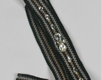 Bridal Accessories, Rhinestone Headband, Bridal Headband, Crystal Headband, Channel Style Accessories, Jeweled Headband, Ribbon Headband